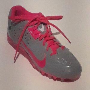 Nike Speedlax Cleats Size 7 Grey Patent Leather